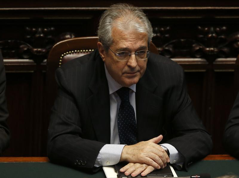 New Italian Economy Minister Saccomanni attends at the Lower house of the parliament in Rome