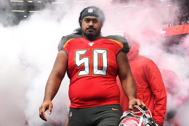 Vita Vea in October. (Photo by Alex Burstow/Getty Images)