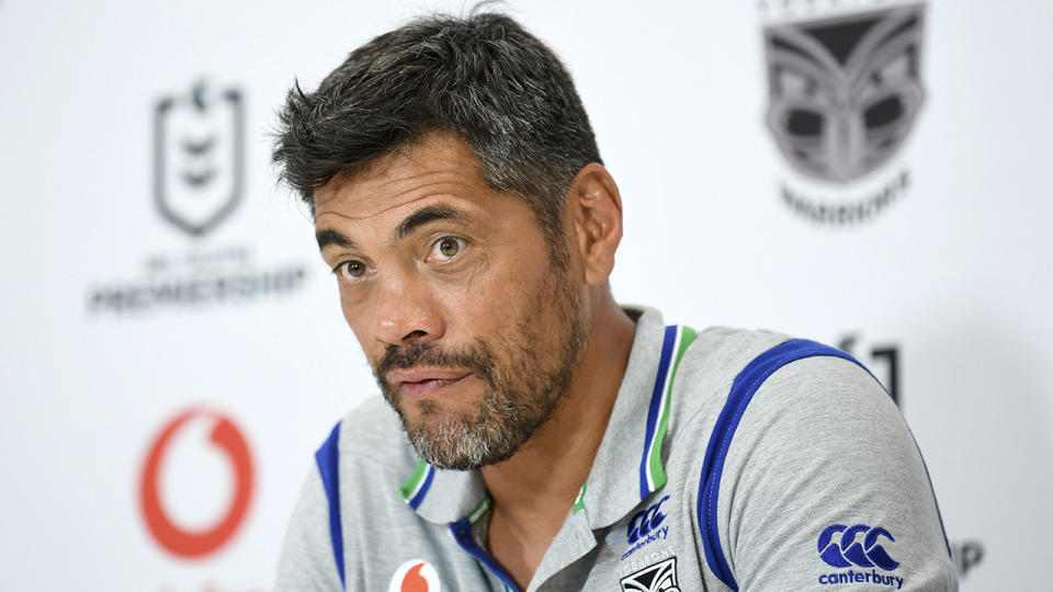 Coach Stephen Kearney speaking to the press conference.