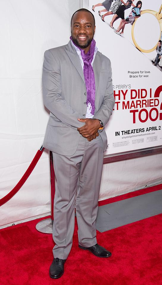 """<a href=""""http://movies.yahoo.com/movie/contributor/1800024222"""">Malik Yoba</a> at the New York City premiere of <a href=""""http://movies.yahoo.com/movie/1810073266/info"""">Tyler Perry's Why Did I Get Married Too?</a> - 03/22/2010"""