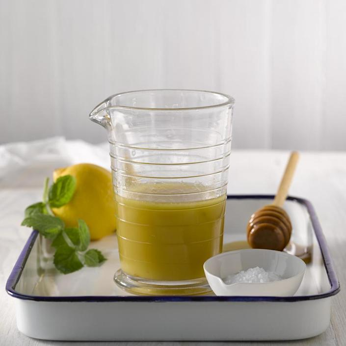 <p>This brightly flavored lemon-mint vinaigrette recipe is an ideal dressing for mixed green salads or grain salads, such a quinoa or freekah, topped with fresh fruit.</p>