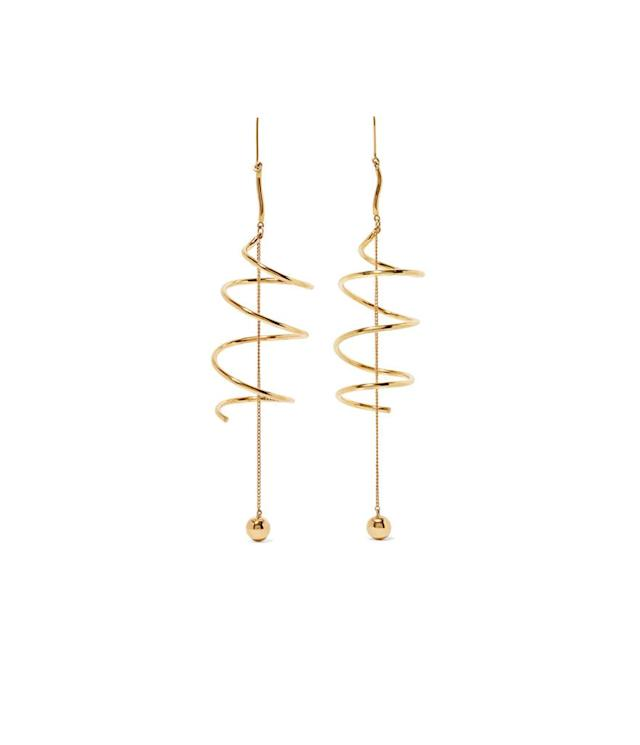 "<p>Ellery Solitude gold-plated earrings, $465,<a href=""https://www.net-a-porter.com/us/en/product/914427/ellery/solitude-gold-plated-earrings"" rel=""nofollow noopener"" target=""_blank"" data-ylk=""slk:net-a-porter.com"" class=""link rapid-noclick-resp""> net-a-porter.com</a> </p>"