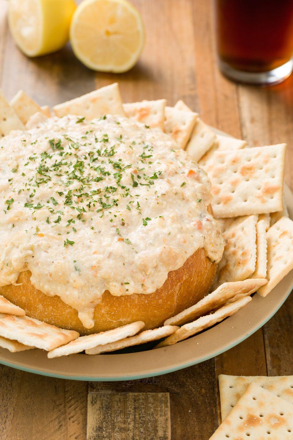 """<p>The creamy soup is obviously best enjoyed in a bread bowl to sop up the flavor. Now you can enjoy it as a dip.</p><p>Get the recipe from <a href=""""https://www.delish.com/cooking/recipe-ideas/recipes/a44544/clam-chowder-dip-in-a-bread-bowl-recipe/"""" rel=""""nofollow noopener"""" target=""""_blank"""" data-ylk=""""slk:Delish"""" class=""""link rapid-noclick-resp"""">Delish</a>.</p>"""