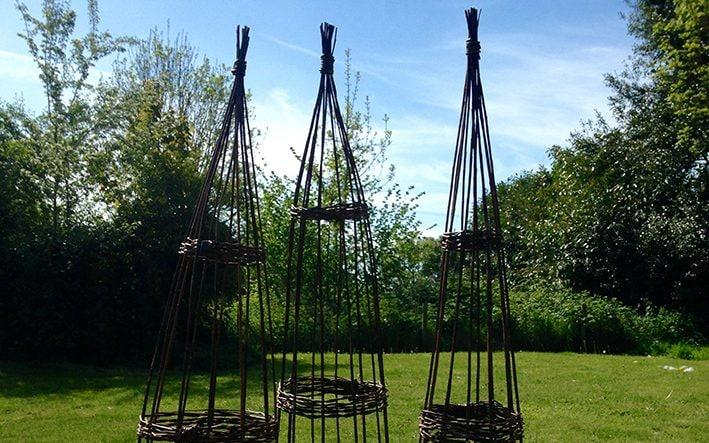 Willow plant supports - Knoll Gardens