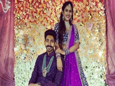 Niharika Konidela gets engaged to beau Chaitanya JV; Ram Charan, Varun Tej, Allu Arjun attend event