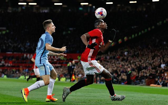 <span>Paul Pogba would have been in the light blue of City on Thursday night if Yaya Toure had got his way</span> <span>Credit: Martin Rickett/PA </span>