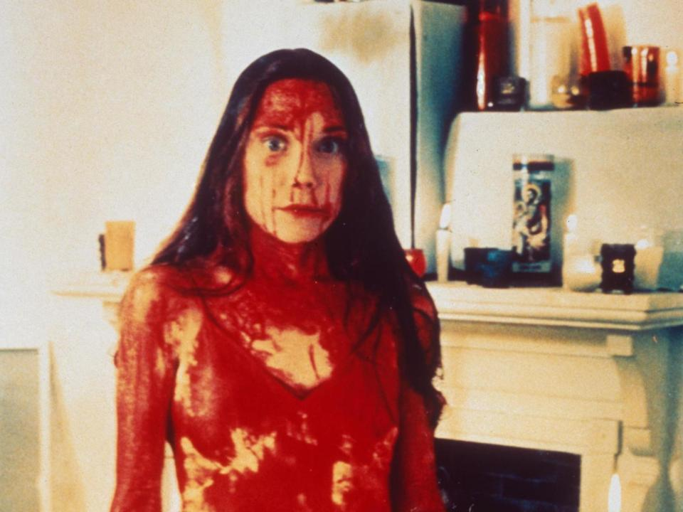 Sissy Spacek as Carrie White in the 1976 film Carrie based on Stephen King's book (Rex)