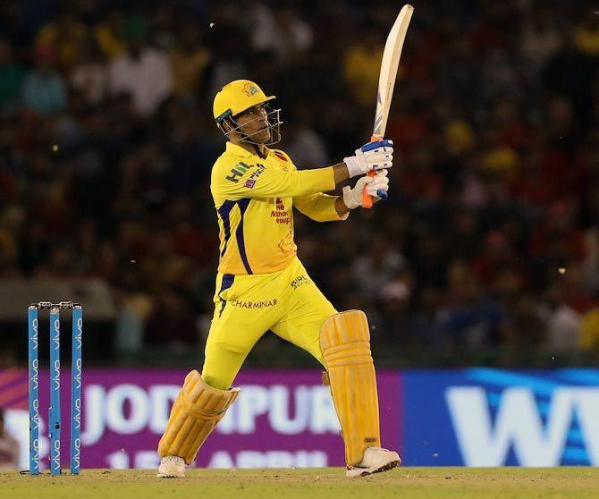 Dhoni's blitzkrieg enabled his side to beat the Mumbai-based outfit by 38 runs