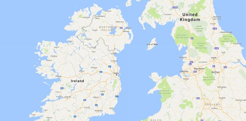 <strong>Reports said Ireland wants the Irish Sea to become its border with the UK post-Brexit</strong> (Photo: Google Maps)