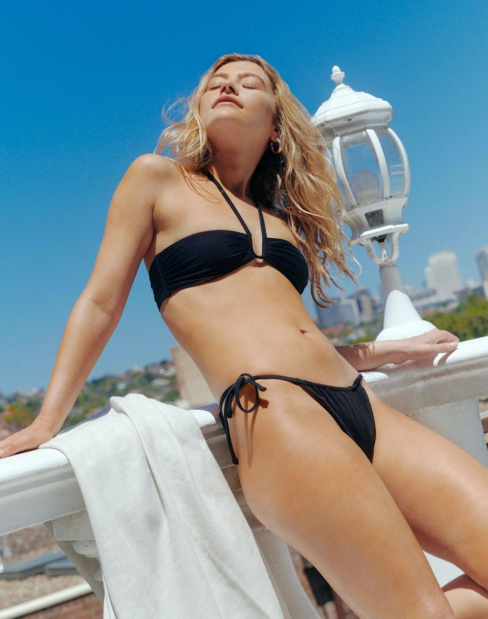 Glassons Cut Out Halter Bikini Top, $19.99 and Ruched Bikini Bottom, $16.99 each or 2 for $30. Photo: Glassons.