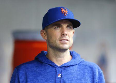 Sep 13, 2018; New York City, NY, USA; New York Mets third baseman David Wright (5) in the dugout during the seventh inning against the Miami Marlins at Citi Field. Mandatory Credit: Noah K. Murray-USA TODAY Sports