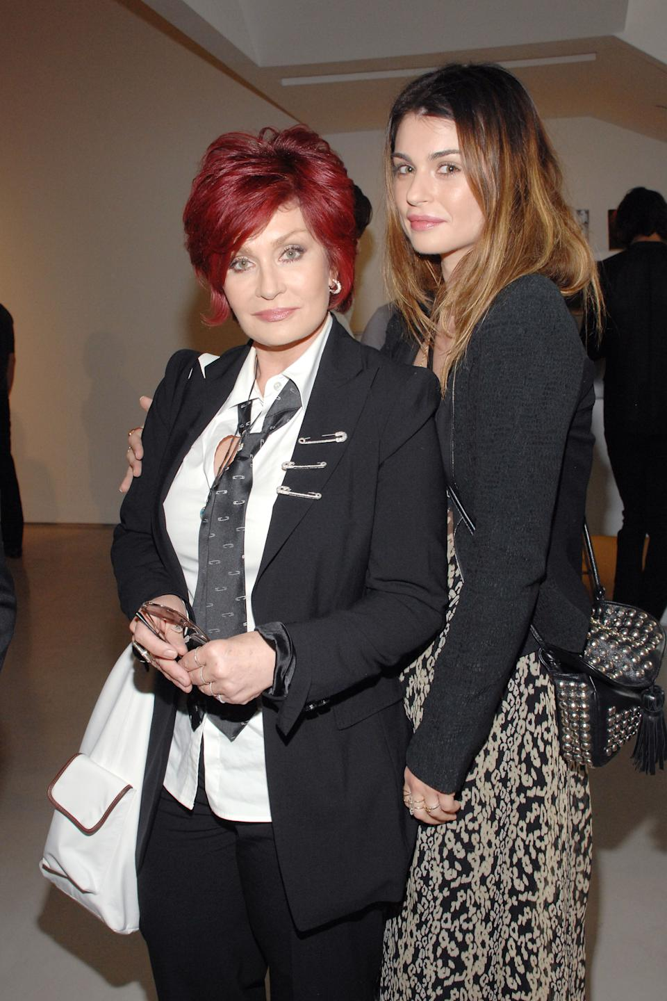 WEST HOLLYWOOD, CA - JUNE 4: Sharon Osbourne and Aimee Osbourne attend PRISM : Andy Warhol Black & White at PRISM GALLERY on June 4, 2010 in West Hollywood, California. (Photo by ANDREAS BRANCH/Patrick McMullan via Getty Images)
