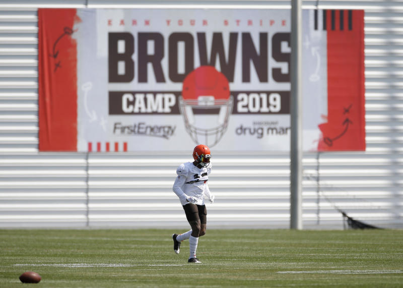 Cleveland Browns wide receiver Odell Beckham Jr. returned to team drills on Monday. (AP)