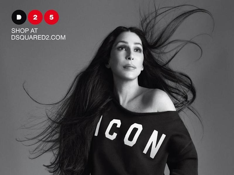 Cher starring in Dsquared2 fashion campaign
