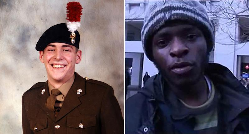 Lee Rigby was murdered by Adebowale (pictured) and Michael Adebolajo in 2013. (PA)