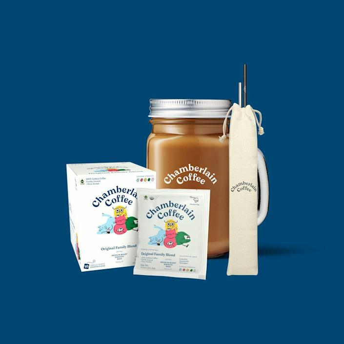 """<p>chamberlaincoffee.com</p><p><strong>$43.00</strong></p><p><a href=""""https://chamberlaincoffee.com/collections/bundles/products/cold-brew-starter-pack"""" rel=""""nofollow noopener"""" target=""""_blank"""" data-ylk=""""slk:Shop Now"""" class=""""link rapid-noclick-resp"""">Shop Now</a></p>"""