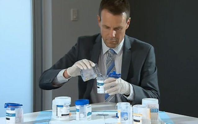 Forensic toxicologist Andrew Leibie says the drug will be appearing in schools and work places. Source: 7 News.