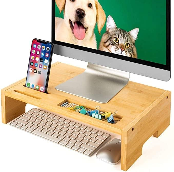 <p>The <span>Bamboo Desk & Tabletop Organizer</span> ($20) is a great way to keep your work space organized.</p>