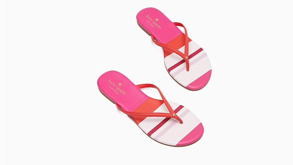 """Nothing says """"summer"""" like a pair of pretty printed flip-flops."""