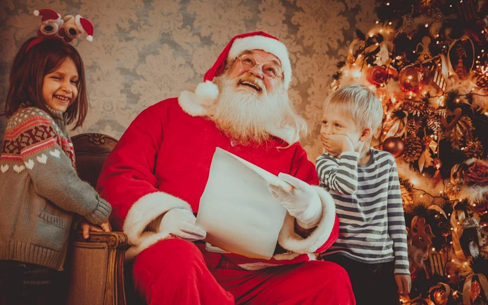 Children can visit Father Christmas but will have to maintain social distancing - VladGans/Getty Images/VladGans/Getty Images