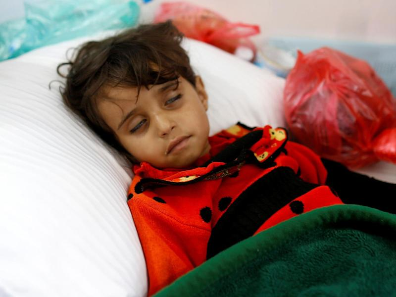 In Yemen a three year cholera outbreak is the worst in history and kills the equivalent of a child every 10 minutes with rains set to bring more suffering: Reuters