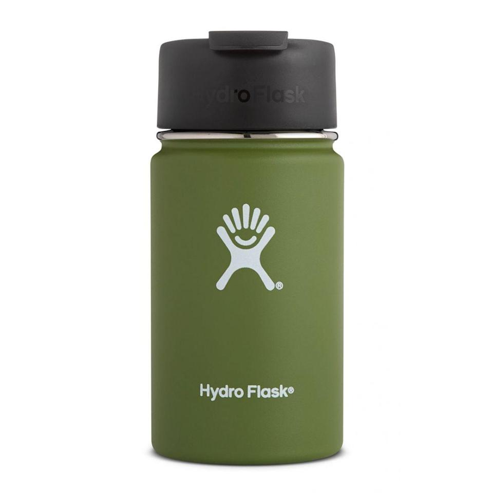 "<p><strong>Hydro Flask</strong></p><p>hydroflask.com</p><p><a href=""https://go.redirectingat.com?id=74968X1596630&url=https%3A%2F%2Fwww.hydroflask.com%2Fcatalog%2Fproduct%2Fview%2Fid%2F1123%2Fs%2Fhydro-flask-12-oz-coffee-olive%2Fcategory%2F70%2F&sref=https%3A%2F%2Fwww.goodhousekeeping.com%2Ffood-products%2Fg32885364%2Fhydro-flask-sale-50-percent-off%2F"" rel=""nofollow noopener"" target=""_blank"" data-ylk=""slk:Shop Now"" class=""link rapid-noclick-resp"">Shop Now</a></p><p><del>$21.95</del><strong><br>$16.46</strong></p><p>ICYMI, it's all about cold brew once the temperature rises. Unlike the cups from your local café, this container will keep your iced coffee chilled for hours. Plus, you can use it over and over again. </p>"