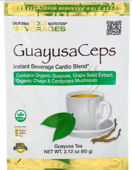 California Gold Nutrition, GuayusaCeps, cardio blend instant beverage,60g, S$14.21 (was S$$23.69). PHOTO: iHerb