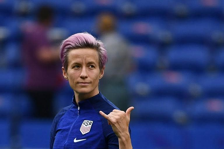 Megan Rapinoe has become a star for her performances at the women's World Cup and her anti-Trump stance