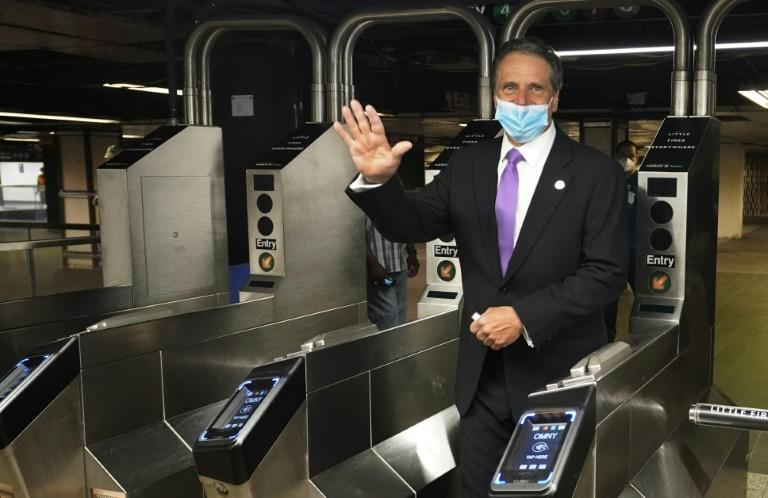 New York Governor Andrew Cuomo pictured on June 8, 2020 in New York City