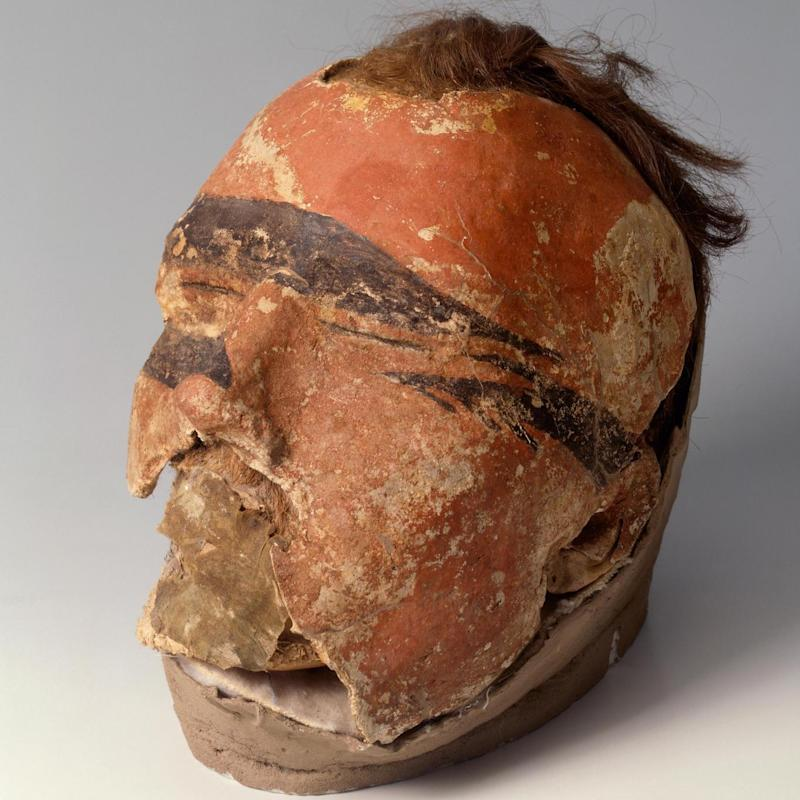 The original head, from a tomb in Oglakhty, Russia (State Hermitage Museum, St Petersburg/ V Terebenin)