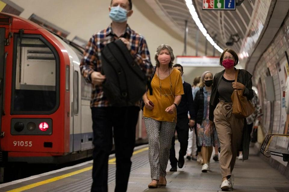 Commuters at Notting Hill Gate on the Central Line (Getty)