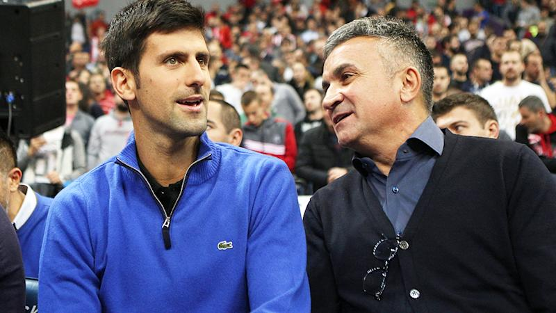 Novak Djokovic and father Srdjan, pictured here in Serbia in 2017.