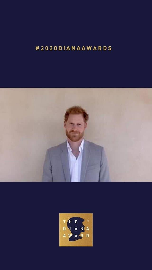 Le prince Harry durant les Diana Awards - Capture d'écran Instagram