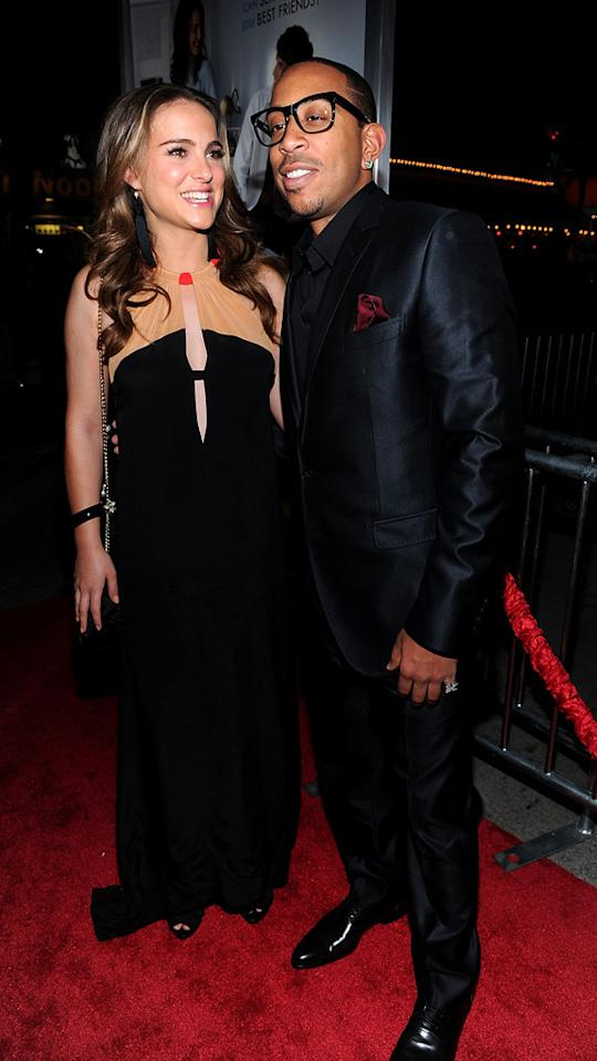 """<a href=""""http://movies.yahoo.com/movie/contributor/1800020300"""">Natalie Portman</a> and <a href=""""http://movies.yahoo.com/movie/contributor/1804022336"""">Ludacris</a> attend the Los Angeles premiere of <a href=""""http://movies.yahoo.com/movie/1810159162/info"""">No Strings Attached</a> on January 11, 2011."""