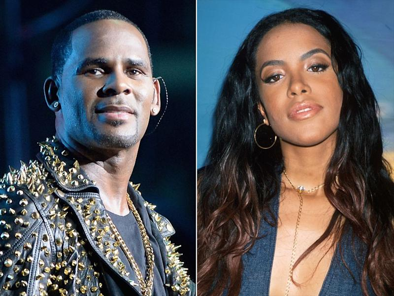 R. Kelly; Aaliyah | Earl Gibson III/Getty; Dave Allocca/DMI/The LIFE Picture Collection/Getty