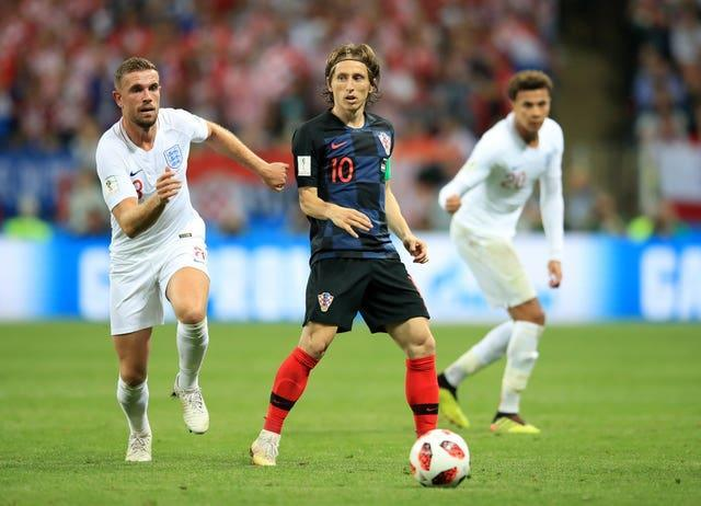 Luka Modric starred in the 2018 World Cup semi-final against England