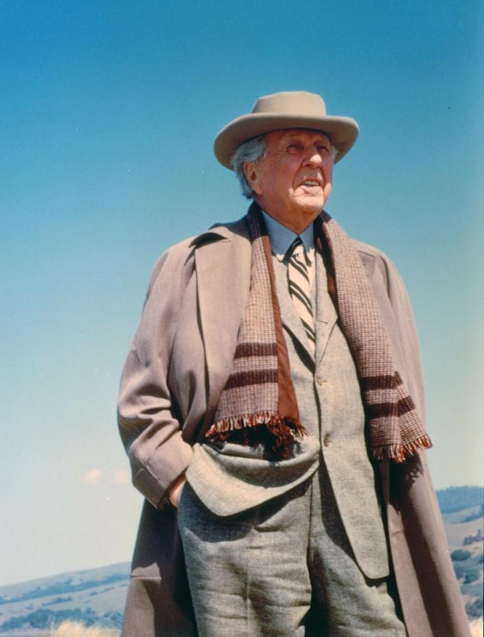 "<div class=""caption""> Wright at the Marin County Civic Center building site in the early 1960s. </div> <cite class=""credit"">Photo: Photo by Aaron Green / Courtesy of The Frank Lloyd Wright Foundation Archives (The Museum of Modern Art 