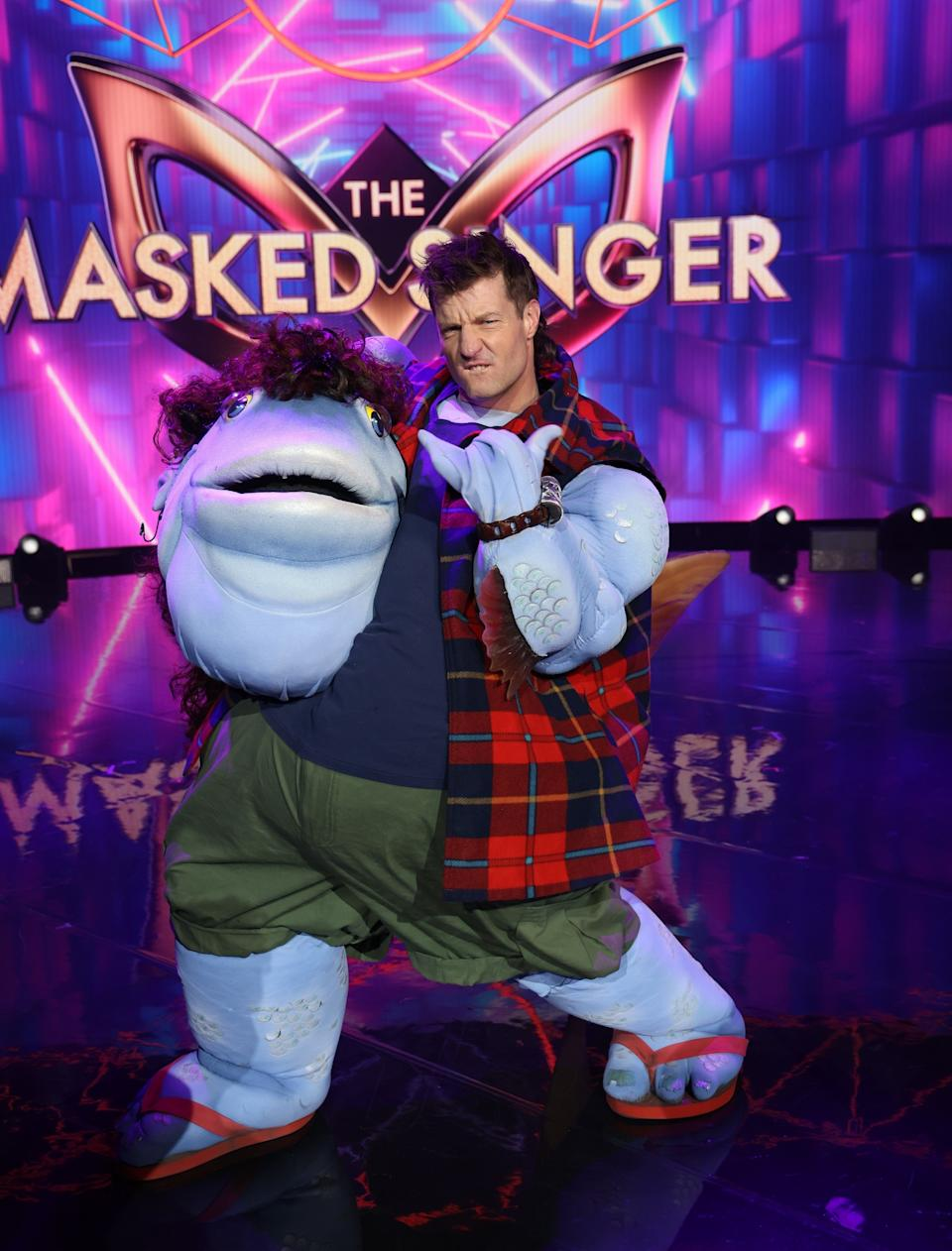 Axle Whitehead on The Masked Singer.