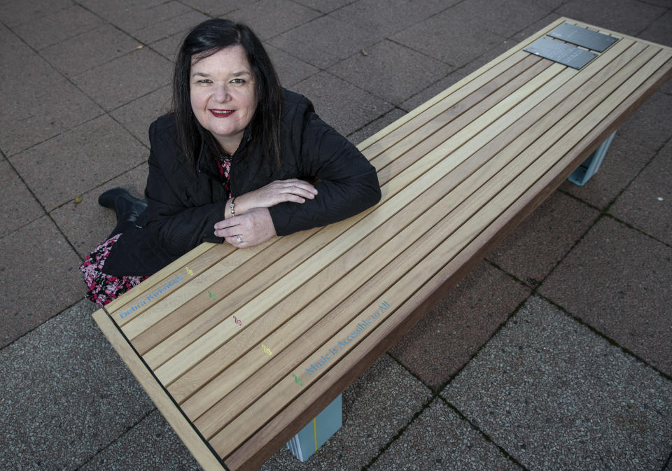 Debra's efforts have earned her a lasting tribute in the local community, in the form of a bespoke bench, dedicated to her by players of The National Lottery and distinctively designed by the TV Presenter and Repair Shop host, Jay Blades