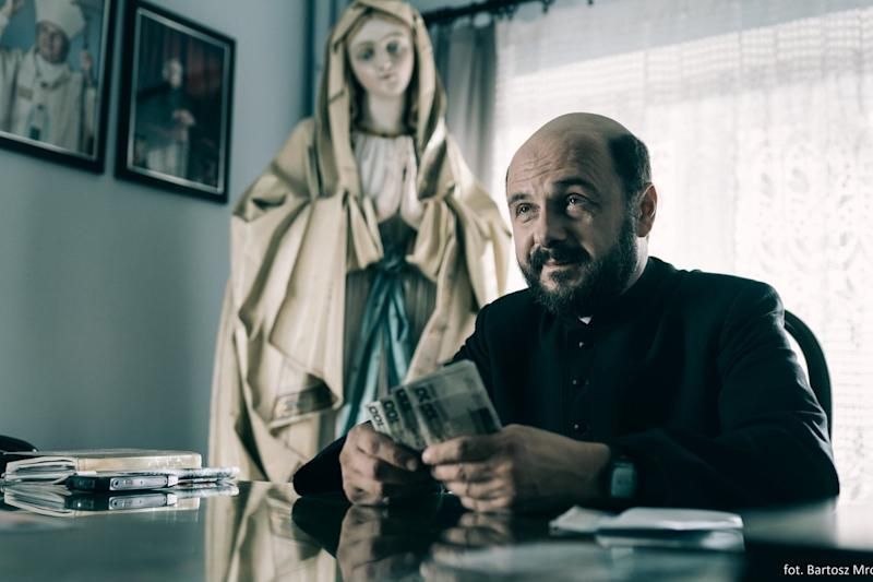 Arkadiusz Jakubik playing a priest in the Polish movie 'Kler', directed by Wojciech Smarzowski: REUTERS