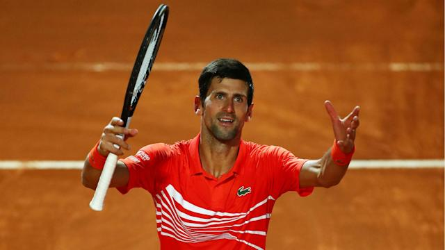 World number one Novak Djokovic will face old rival Rafael Nadal in the Internazionali d'Italia final after beating Diego Schwartzman.