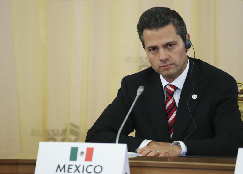 Mexico's President Nieto attends the first working session of the G20 Summit in Constantine Palace in Strelna near St. Petersburg