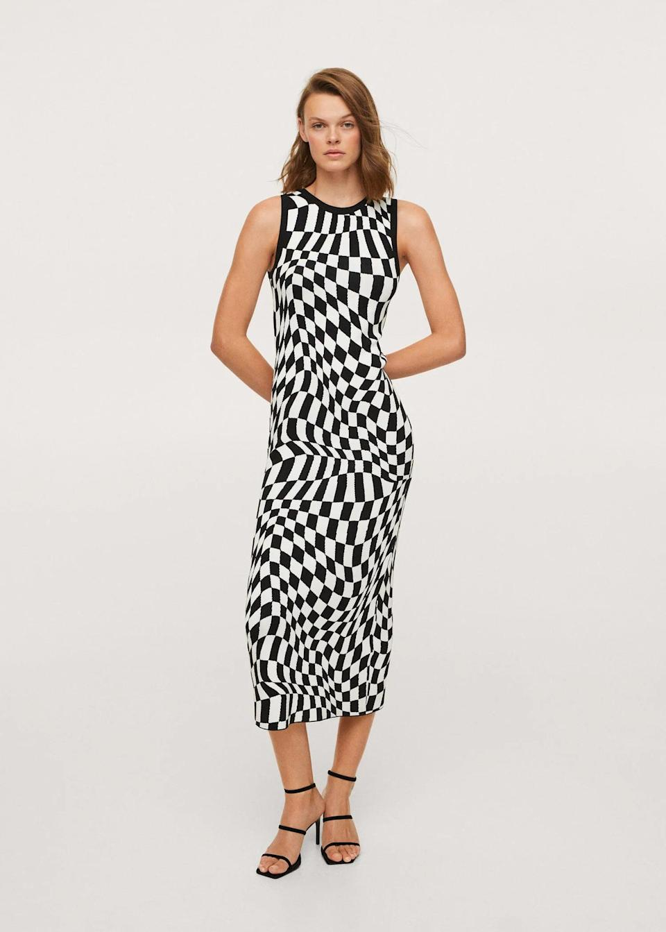 <p>This <span>Check Knit Dress</span> ($80) will infuse your fall wardrobe with a modern edge and playfulness. Finish your look with a leather jacket and some barely there heels.</p>