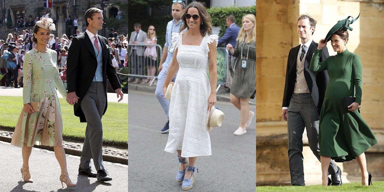 "<p>Pippa Middleton may best be known for her <a rel=""nofollow"" href=""https://www.harpersbazaar.com/wedding/photos/g1522/kate-middleton-prince-william-wedding-photos/?slide=10"">jaw dropping</a> Maid of Honor dress at sister Kate Middleton's wedding, or as a doting aunt to the Duchess of Cambridge's three royal children (Prince George, Princess Charlotte, and Prince Louis). But now, she's a first-time mother herself. Middleton <a rel=""nofollow"" href=""https://www.harpersbazaar.com/wedding/photos/a9899155/pippa-middleton-wedding-james-matthews/"">wed husband James Matthews</a> last year in London, and the couple just <a rel=""nofollow"" href=""https://www.harpersbazaar.com/celebrity/latest/a23627026/pippa-middleton-gives-birth-first-child/"">welcomed a baby boy</a> on October 15. Here, we take a look at all of the new mom's best maternity looks from the past nine months. Plus, read <a rel=""nofollow"" href=""https://www.harpersbazaar.com/celebrity/latest/a21211930/pippa-middleton-pregnant-first-baby/"">all of the details about the new baby</a>, and see <a rel=""nofollow"" href=""https://www.harpersbazaar.com/celebrity/latest/a23830775/pippa-middleton-birth-kate-middleton-prince-william-response/"">how the royal family is reacting</a> to the happy news. </p>"