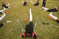 Many of the footballers lost limbs after being hit by Israeli fire in recent conflicts between the Jewish state and Gaza rulers, Hamas, or during months of protests in 2018-2019