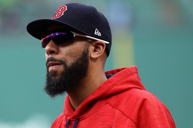 David Price looks on after the Boston Red Sox defeat the Oakland Athletics 6-2 at Fenway Park on September 14, 2017 in Boston, Massachusetts. (Getty Images)