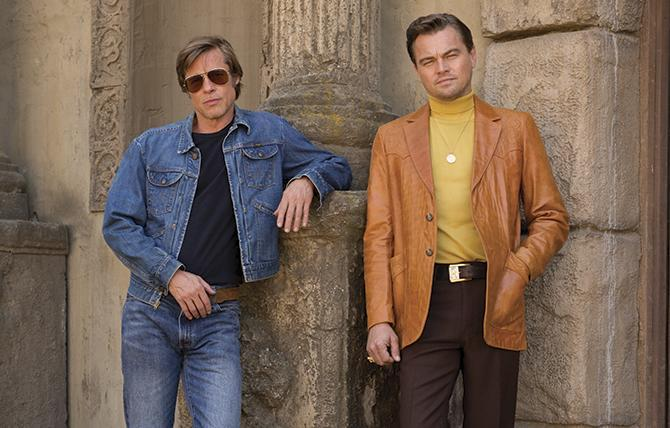Brad Pitt y Leonardo DiCaprio en Once upon a time in Hollywood (Cortesía de ©Sony Pictures)