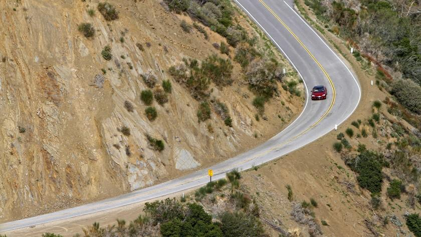 Highway 33 above Ojai provides a scenic and challenging road for the new Tesla Model S P85D dual electric motor sedan. The second motor helps put out the equivalent of 691 horsepower. It's priced at $104,500.