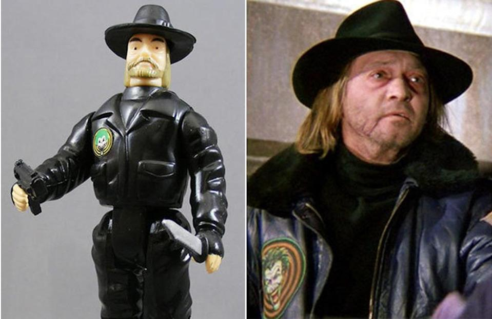 <p>Tracy Walters's Bob the Goon from Tim Burton's 'Batman' was, for his action figure, reimagined as an earless, square-jawed faux-Chuck Norris. (Photo: ToyBiz/Warner Bros.)</p>