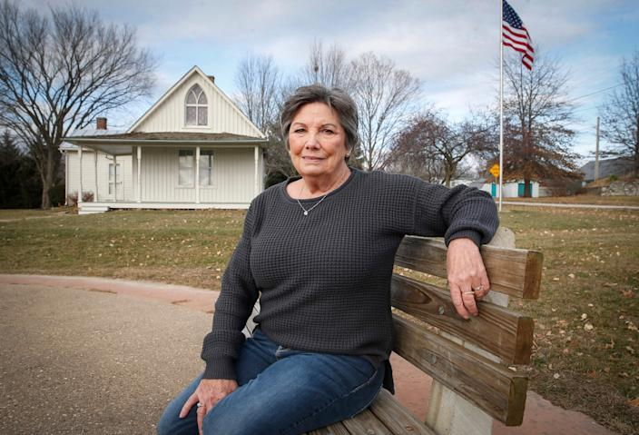 Donna Jeffrey, a lifelong resident of Eldon, Iowa, helped create an educational center at the American Gothic visitor center, which draws about 15,000 to 20,000 people annually.